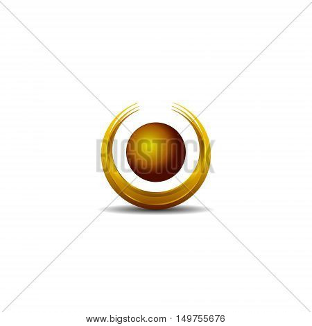 Abstract Vector Design Element - Metal O sphere logo template