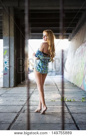 Attractive Barefoot Woman
