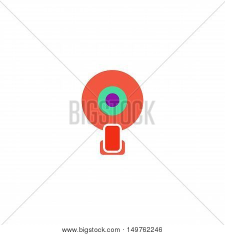 Web camera Icon Vector. Flat simple color pictogram