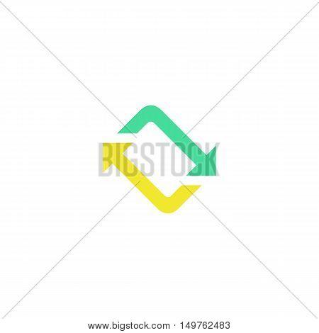 Twist Icon Vector. Flat simple color pictogram