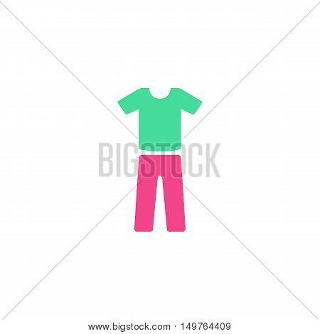 Clothes Icon Vector. Flat simple color pictogram