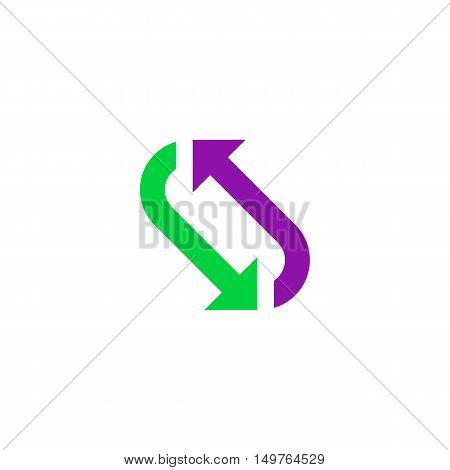 Repetition Icon Vector. Flat simple color pictogram
