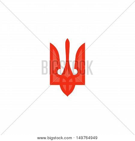 Trident Icon Vector. Flat simple color pictogram