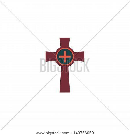 Grave Icon Vector. Flat simple color pictogram