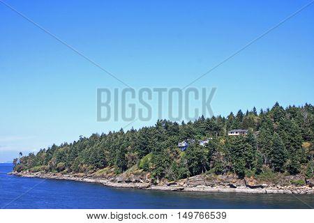 Gulf Islands in the Georgia Strait, Canada