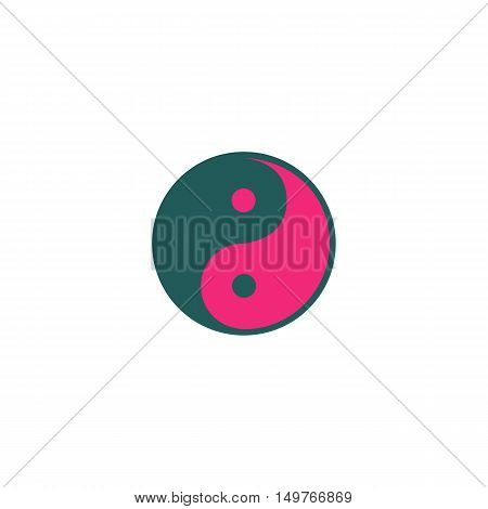 Ying yang Icon Vector. Flat simple color pictogram