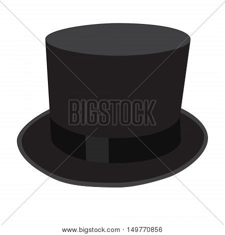 cylinder black hat elegant isolated vector illustration