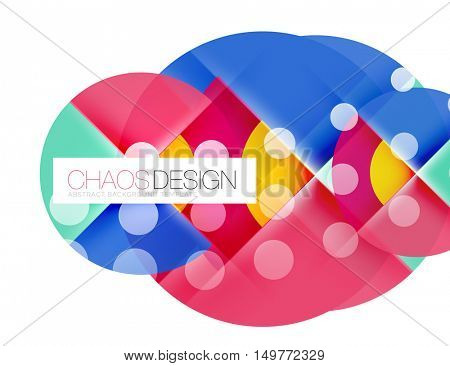 Geometric vector modern abstract background