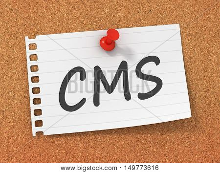 cms 3d illustration isolated on white background
