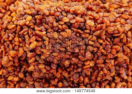 Sweet raisins, can be used as background. Health food concept