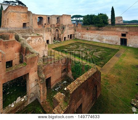 House Of Augustus At Palatine Hill In Rome.