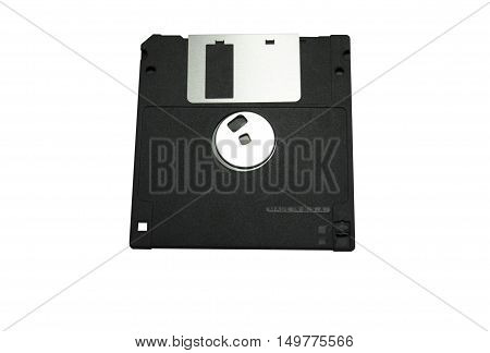 Old Floppy Disk magnetic computer data storage support isolated on white backgrounds