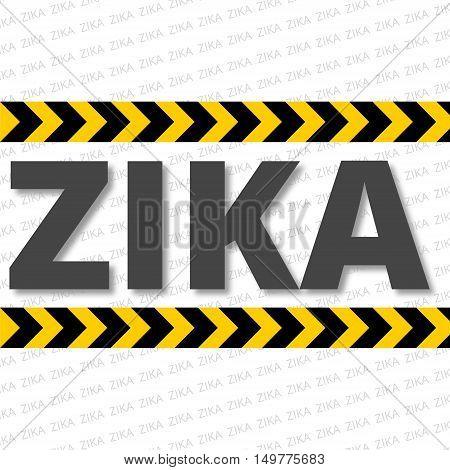 Caution of mosquito icon, zika sign icon