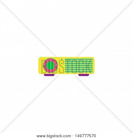 Projector Icon Vector. Flat simple color pictogram