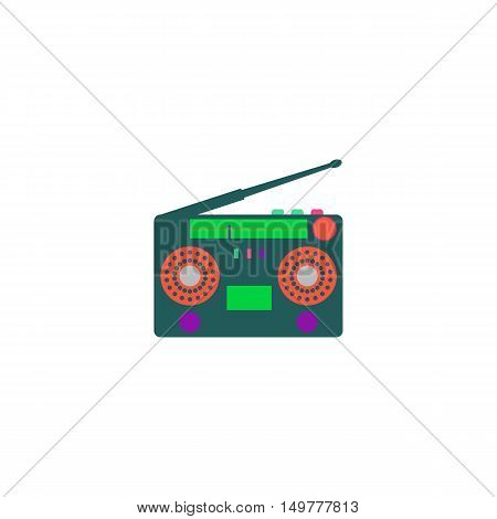 Turntable Icon Vector. Flat simple color pictogram