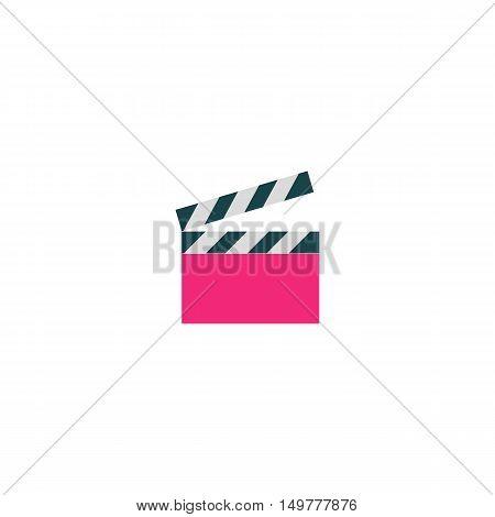 Clapper board Icon Vector. Flat simple color pictogram