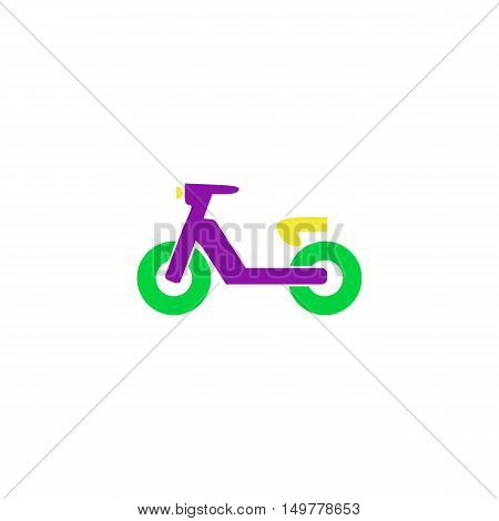 Moped Icon Vector. Flat simple color pictogram