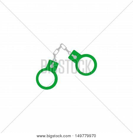 Handcuffs Icon Vector. Flat simple color pictogram