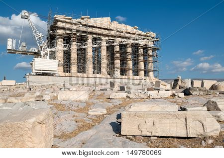 The ongoing reconstruction of the site can not belittle to great Classic architecture of Parthenon Acropolis of Athens