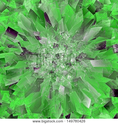 Abstract green background of the abstract gradient with visual lighting, mosaic,cubism,pinch and plastic wrap effects.Good for your project design