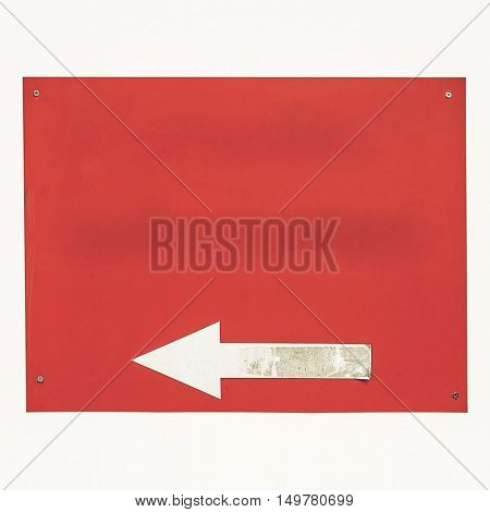 Vintage Looking Direction Arrow Sign Isolated