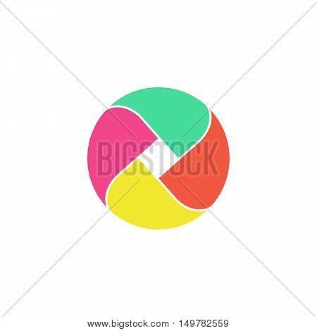 Loop circle Icon Vector. Flat simple color pictogram