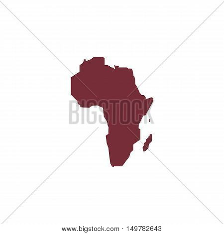 Africa Icon Vector. Flat simple color pictogram