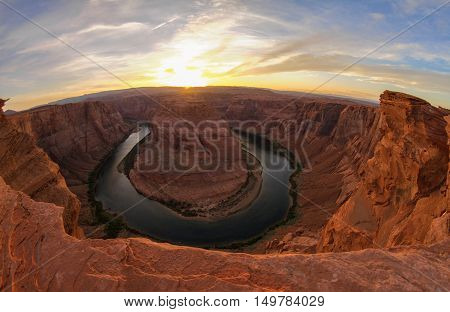 The famous Horseshoe Bend near Page Arizona