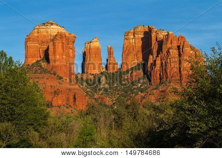 The Catherdal Rock next to Sedona AZ. the picture was taken from the Red Rock State Park
