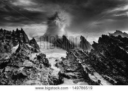 Inhospitable Seascape Wild Weather