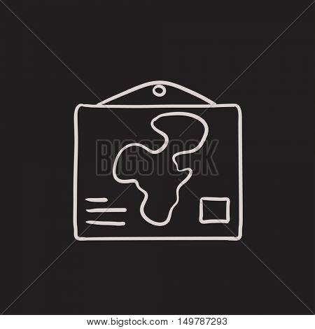 World map vector sketch icon isolated on background. Hand drawn World map icon. World map sketch icon for infographic, website or app.