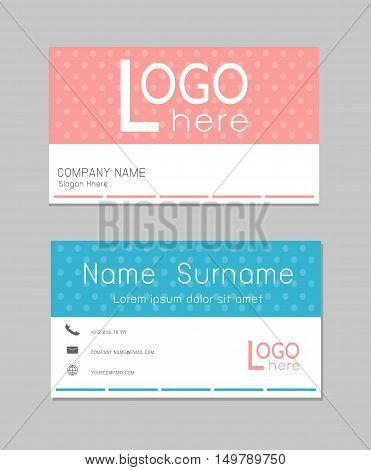 Business Card, modern creative and clean business card template. Flat design, abstract creative business cards, Modern simple business card template, Vector Illustration.