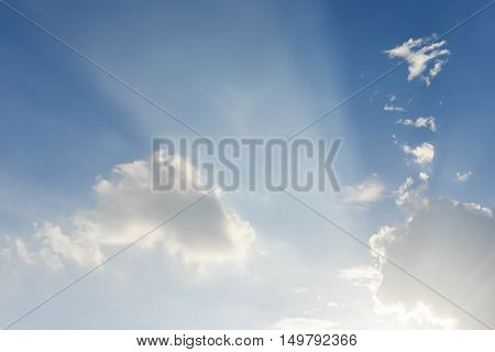 Beautify of Blue sky and white cloud