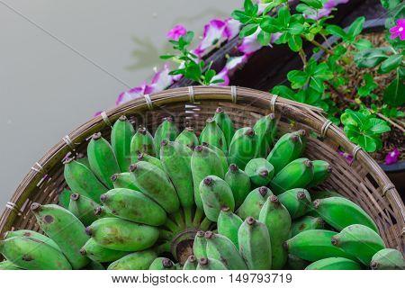 Bananas In Threshing Basket.