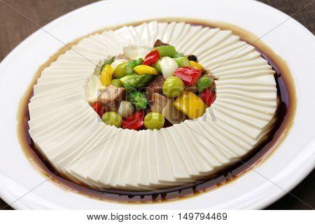 one thousand leaves tofu, chinese bean curd cuisine