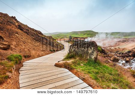 Seltun Geothermal Area In Iceland