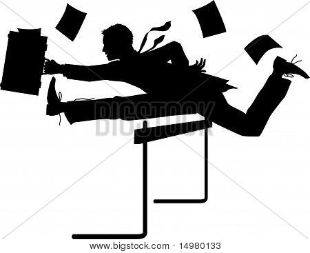 Hurdling Businessman