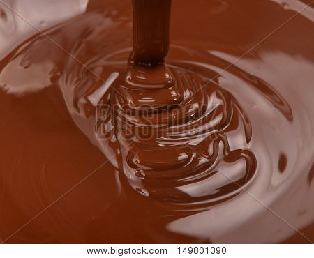 lots of hot chocolate falling from above