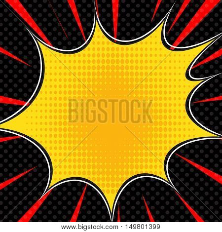 Comic book explosion superhero pop art style radial lines background. Manga or anime speed frame.