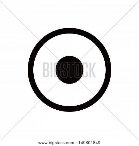 Rec Icon stock vector illustration flat design