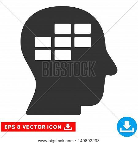Blue And Gray Schedule Thinking EPS vector pictograph. Illustration style is flat iconic bicolor symbol on a white background.
