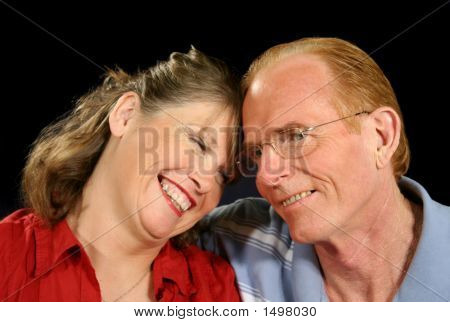 Middle Aged Couple Laughing