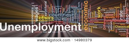 Software package box Word cloud concept illustration of unemployment work