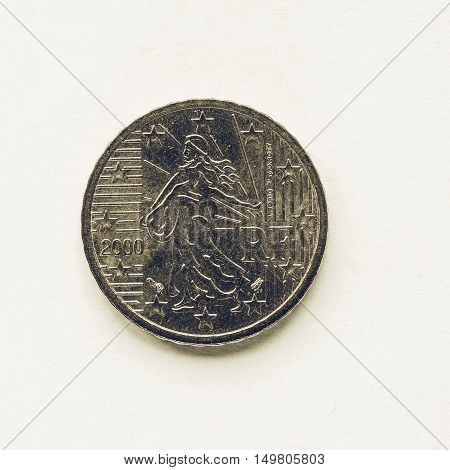 Vintage French 10 Cent Coin