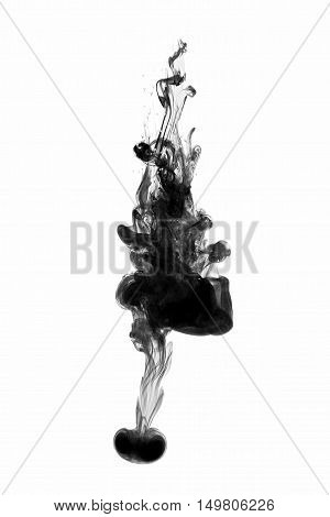 Color Abstract Paint Splash Isolated On White Background