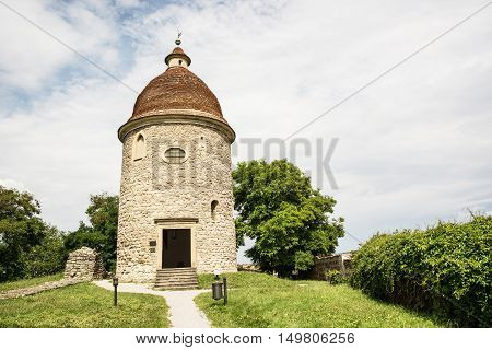Romanesque rotunda in Skalica Slovak republic. Architectural theme. Cultural heritage. Travel destination. Beautiful place.
