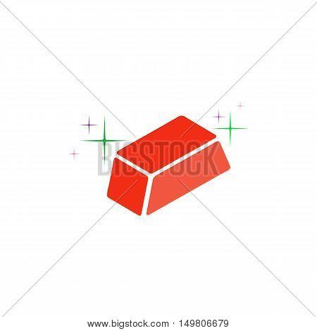 Ingot Icon Vector. Flat simple color pictogram