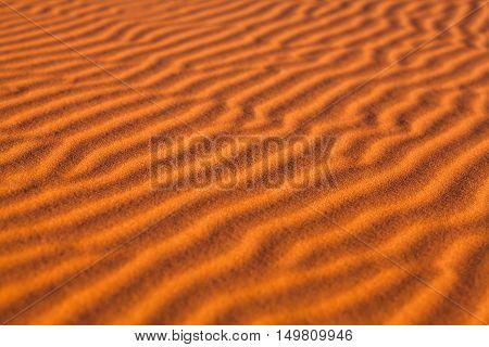 Sand dunes in Western Sahara Desert, Morocco, North Africa