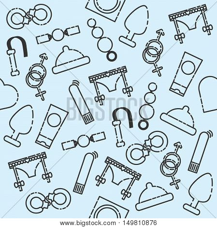 Sex shop pattern. Vector illustration EPS 10