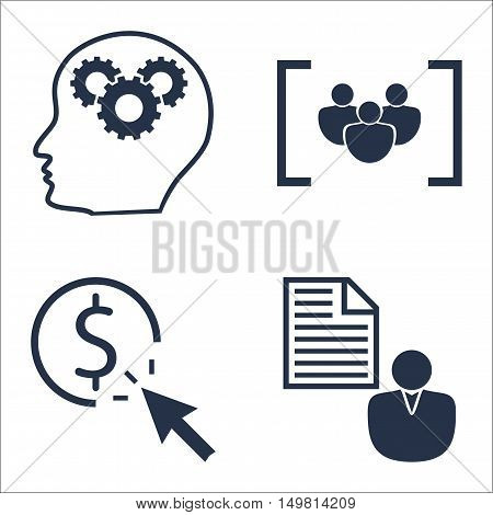 Set Of Seo, Marketing And Advertising Icons On Creativity, Pay Per Click, Client Brief And More. Pre